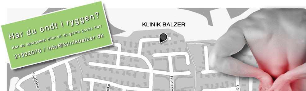 På billedet ses et kort over aabenraa med klinik balzer i midten.
